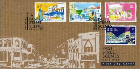 Singpost Stamps Past Street Scene First Day Cover Cancelled